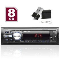 Auto Radio Mp3 Automotivo Multilaser One + Pendrive 8gb Mini