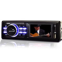 Dvd Multilaser Rock Automotivo Tela 3 Mp3 Usb Cartão Radio