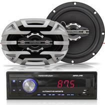 Rádio Mp3 Player Para Carro Pra Carro Usb + Par Alto Falante