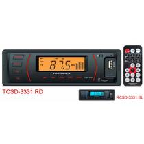 Toca Radio Para Carro Retrô Powerpack 3331 200w Rms