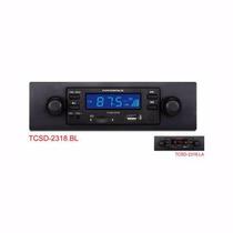 Toca Radio Powerpack Tcsd-2318 Sd Usb Azul
