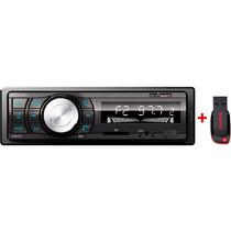 Auto Rádio Mp3 Player Automotivo Fm/usb /sd + Pen Drive