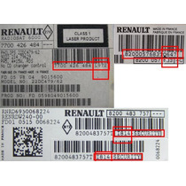 Desbloqueio Radio Renault Scenic Code Security