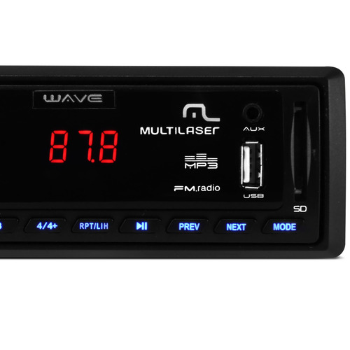Radio Automotivo Multilaser Wave P3108 Mp3 Player Usb Sd Fm