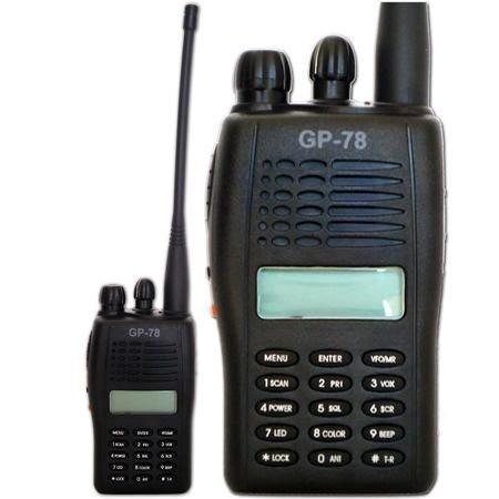 Radio Ht Gp-78 Gp78 Elite Vhf Fone De Tubo Acustico Brinde