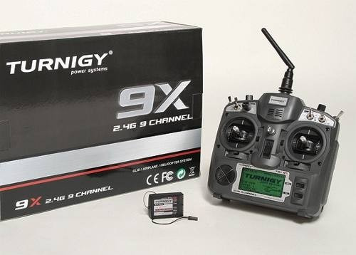 Rádio Turnigy 9x - 09 Canais 2.4ghz E Receptor 08 Ch V2