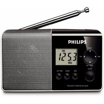 Rádio Portáti Philips Am/fm Com Display Digital Lcd Ae1850