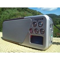 Rádio Nogo Mp3 Player, Usb, Cartão Tf, Caixa De Som, Lcd Rec