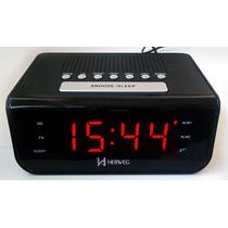 8103 - Rádio Relógio Despertador Digital 2 Alarmes 110 220