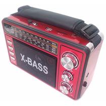 Radio Portátil Recar. Lanterna Usb Sd Microsd Mp3 Cnn-2196