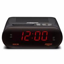 Rádio Relógio Am-fm Com Alarme E Função Soneca Nks Gl 327