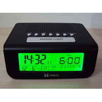 8111 - Rádio Relógio Despertador Digital Luz Alarme Calendár
