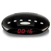 Rádio Relógio Digital Com Despertador- 5w/ Alarme/ Fm