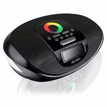 Despertador E Caixa De Som Boombox Bluetooth, Usb, Sd