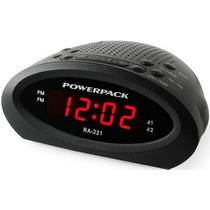 Rádio Relógio Powerpack Ra-221 - Bi-volt