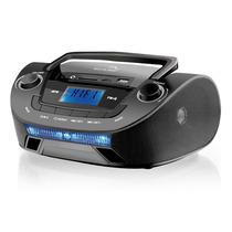 Rádio Multilaser Boombox Mp3 Fm 15w Sp140 Preto 5 Em 1