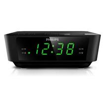 Rádio Relógio Sintonização Digital Fm Duplo Alarme Philips