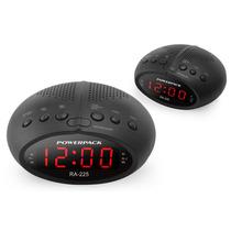 Rádio Fm Com Relógio Digital Powerpack Ra 225 Bk 110-220v