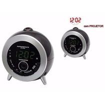 Rádio Relógio Fm Com Projetor Rf-233n Powerpack Promoção !!!
