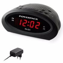 Radio Relógio Powerpack Digital Fm Despertador Duplo Alarme