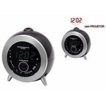 Rádio Relógio Fm Com Projetor Rf-233n Powerpack