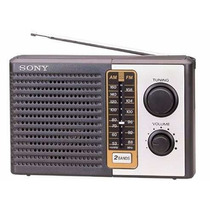 Radio Portatil Am/fm Sony Icf-f10, 2 Bandas.novo. 95 Reais