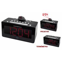 Radio Relogio Powerpack Rf-238 Fm C/ Projetor E Sensor Infra