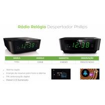 Radio Relógio Philips Digital Fm Despertador Duplo Alarme