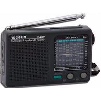Radio Portatil Tecsun R-909 Fm/mw E Sw1-7,s/cx Novo,original