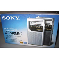 Rádio Portátil Sony Icf-s10mk2 Pocket Am/fm Am Fm Envio Já