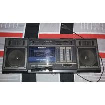 Radio Antigo Sony Cfs 15 Com Toca Fitas Am-fm Anos 80