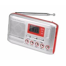 Radio Digital Powerpack Cxd-9006.r Am/f- Relogio E Alarme!!!