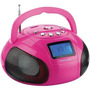 Mini Rádio Boombox Usb/fm/sd 10w Rosa Sp146 Multilaser