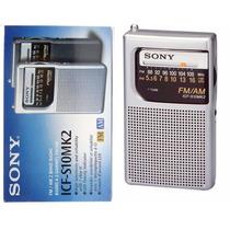 Rádio Portátil Sony Icf-s10mk2 Pocket Am/fm Am Fm