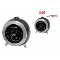 Radio Relógio Powerpack Rf-233.n-com Projetor-110v-lindo !!!