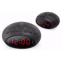 Radio Relógio Digital Fm Despertador Duplo Alarme
