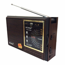 Radio Portátil Antigo Livstar Usb Sd Fm-tv Am Cnn-2730ru