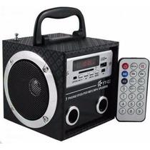 Caixa Som Caixinha Portátil Mp3 Radio Usb Sd Fm Pen Drive