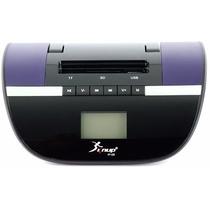 Rádio Relógio Digital - Alarme / 6w / Usb / Fm / Bateria