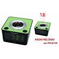 Rádio Relógio Fm Com Projetor Powerpack Rf-531