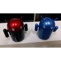 Mini Rádio Robo Miniatura Android Mp3 Fm Caixa Som Usb P2