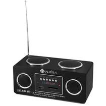 Mini Caixa Som Mp3 Rádio Fm Digital Stereo Usb Sd Pen Drive