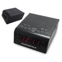 Radio Relogio Powerpack Ra-222.b Dig Fm 2v