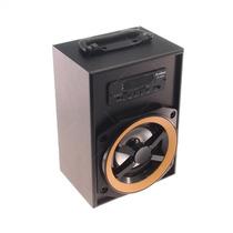 Rádio Amplificador Preto Pequeno - Fm/ Usb/ Cartão Sd/ Mp3