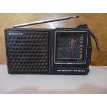 Radio A Pilha Sânio Rp 5140 Década De 1970 Dial Cruzado
