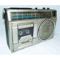 Rádio Antigo Panasonic Gravador Fm Tape Funciona Reliquiaja