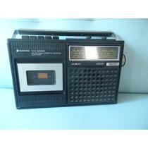 Rádio E Tape Deck Sânio Década De 1970