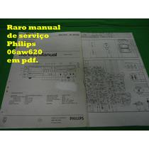 Raro Manual De Serviço Philips 06aw620 Aw620 Em Pdf .