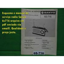 Raro Esquema Sanyo 6s-716 6s716 Em Pdf Via Email 10,00