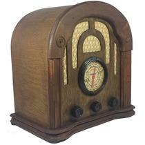 Rádio Antigo Imperador Imbuía - Artesanal - Vintage - Retrô